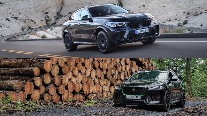 Watch The BMW X6M Take On The Jaguar F-Pace SVR-based Lister Stealth