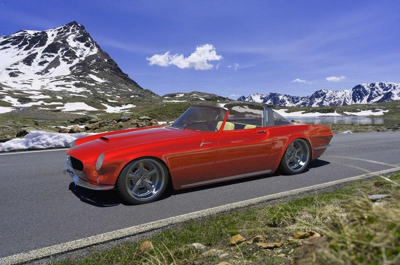 A Volvo P1800 With a Porsche Targa Roof and a Corvette V-8 Might Happen