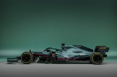 Here's Your First Look At Aston Martin's 2021 F1 Car As Compared To the Valkyrie