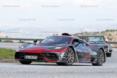 Mercedes-AMG Project One caught in production shape