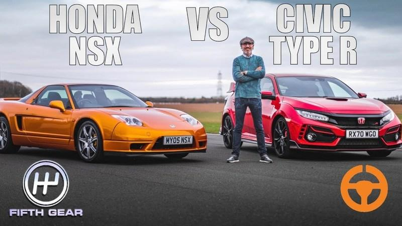 Things Get Real When A Honda Civic Type R Races An Old Honda NSX