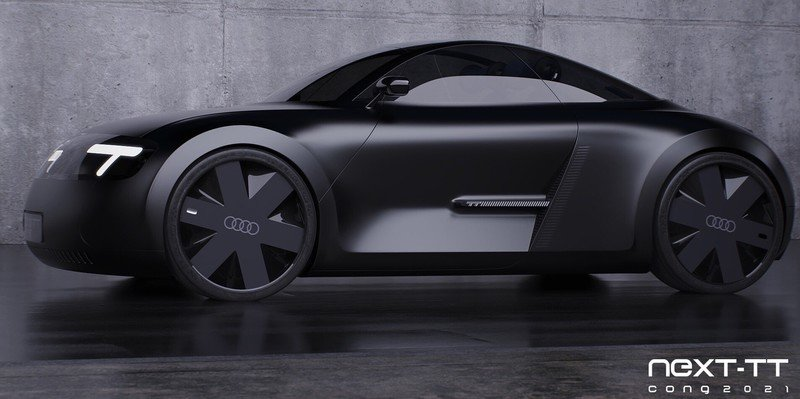 This Rendering Concept Predicts The Audi TT's Electric Future