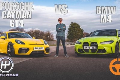 This Shootout Between the BMW M4 and Porsche Cayman GT4 is Epic