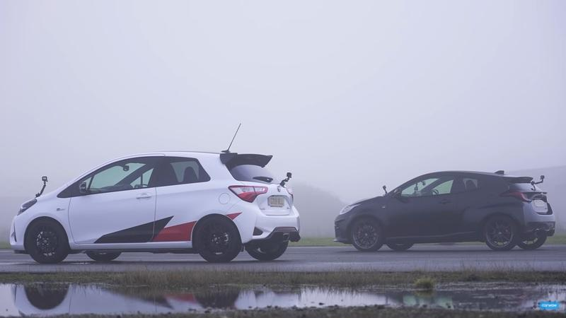 Watch The Toyota GR Yaris Absolutely Destroy The Yaris GRMN On A Drag Strip - image 986204