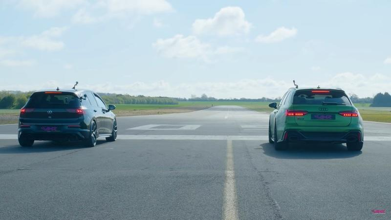 Can The New VW Golf R Beat The Audi RS6 Avant On A Drag Strip