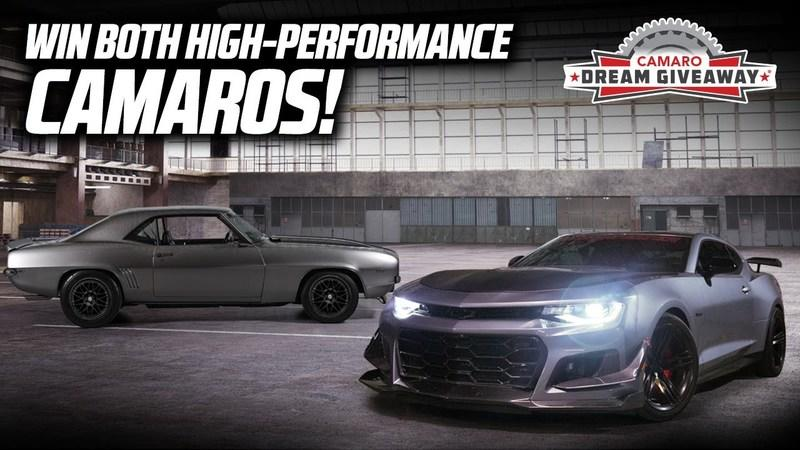 This Is Your Chance To Win A 2020 Chevy Camaro ZL1 AND A Custom 1969 Camaro!