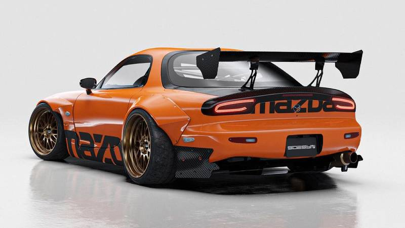 This Widebody RX-7 Rendering Will Give You Those Retrotastic 90s Vibes You've Been Missing - image 998829