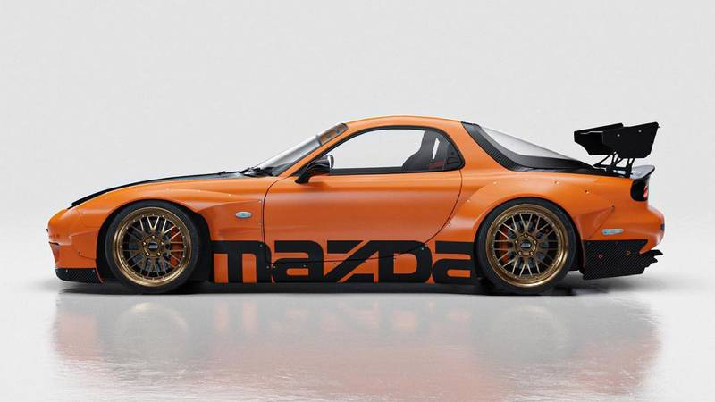 This Widebody RX-7 Rendering Will Give You Those Retrotastic 90s Vibes You've Been Missing - image 998833