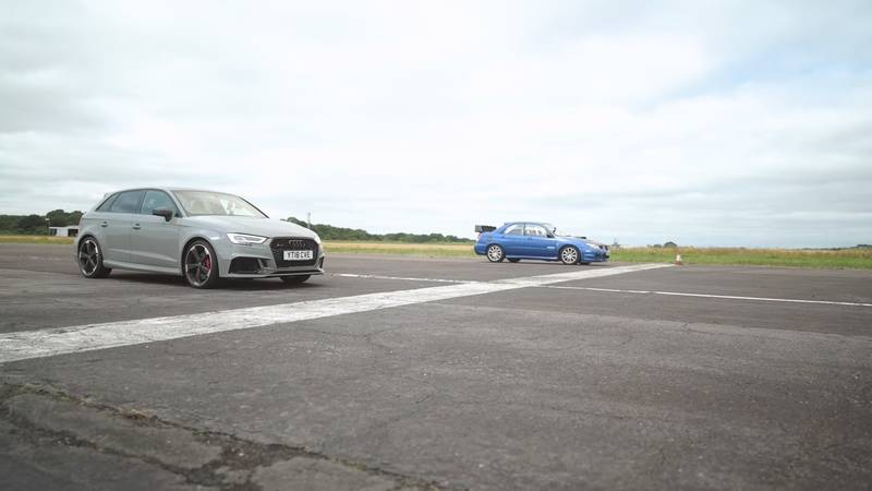 Can An Old-School Subaru Impreza WRX STI Hold A Candle To An Audi RS3 On The Drag Strip? - image 1015526
