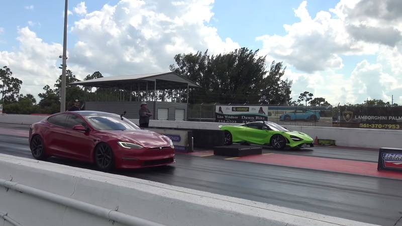 Can The McLaren 765 LT Score An Upset Victory Over The Tesla Model S Plaid On The Drag Strip? - image 1020178