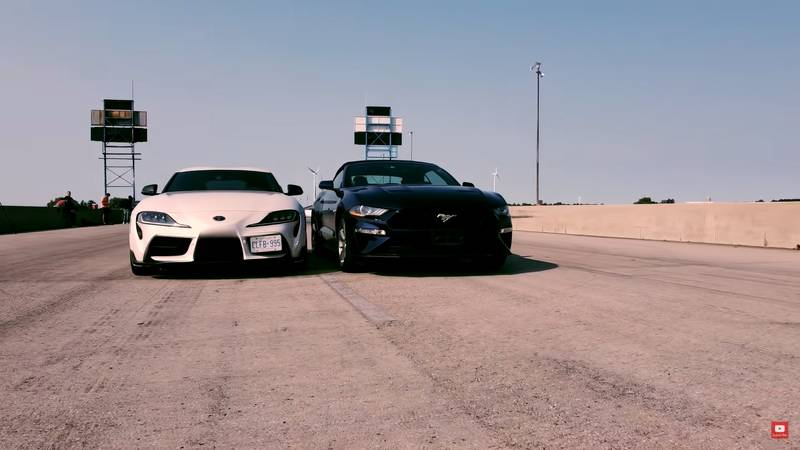 Drag Race: Can The Mustang GT Convertible Take On The GT Supra? - image 1017932