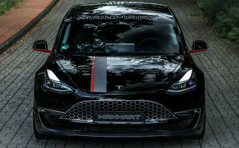 Manhart Put A Grille On The Tesla Model 3 And It Looks Good Exterior - image 1016843