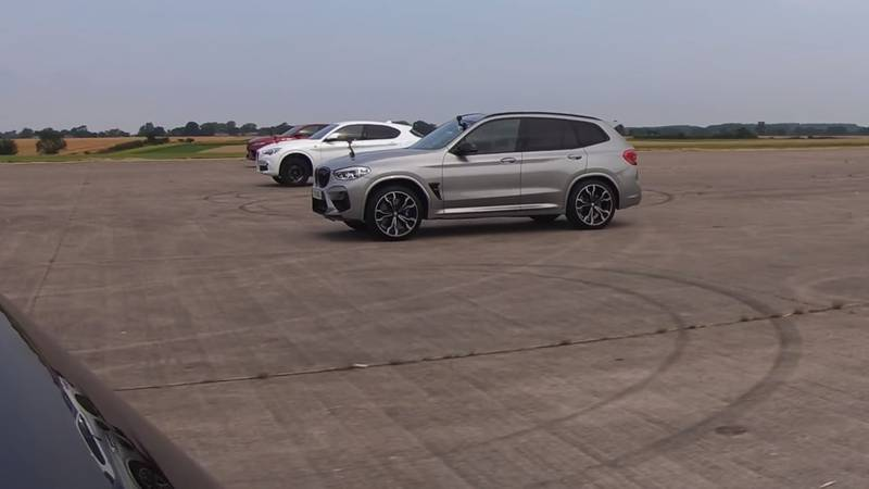 Watch The BMW X3 M, The Jaguar F-Pace, And The Alfa Romeo Stelvio Get Railroaded By The Mercedes-AMG GLC 63! - image 1016067