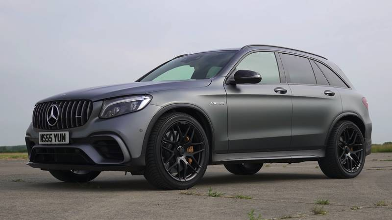 Watch The BMW X3 M, The Jaguar F-Pace, And The Alfa Romeo Stelvio Get Railroaded By The Mercedes-AMG GLC 63! - image 1016084