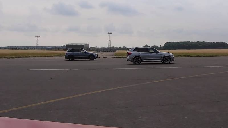 Watch The BMW X3 M, The Jaguar F-Pace, And The Alfa Romeo Stelvio Get Railroaded By The Mercedes-AMG GLC 63! - image 1016052