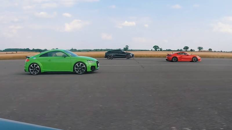 Watch The Lamborghini Urus Fight It Out Against The Audi TT-RS, The Porsche Cayman GT4, and The Volkswagen Golf R - image 1016749