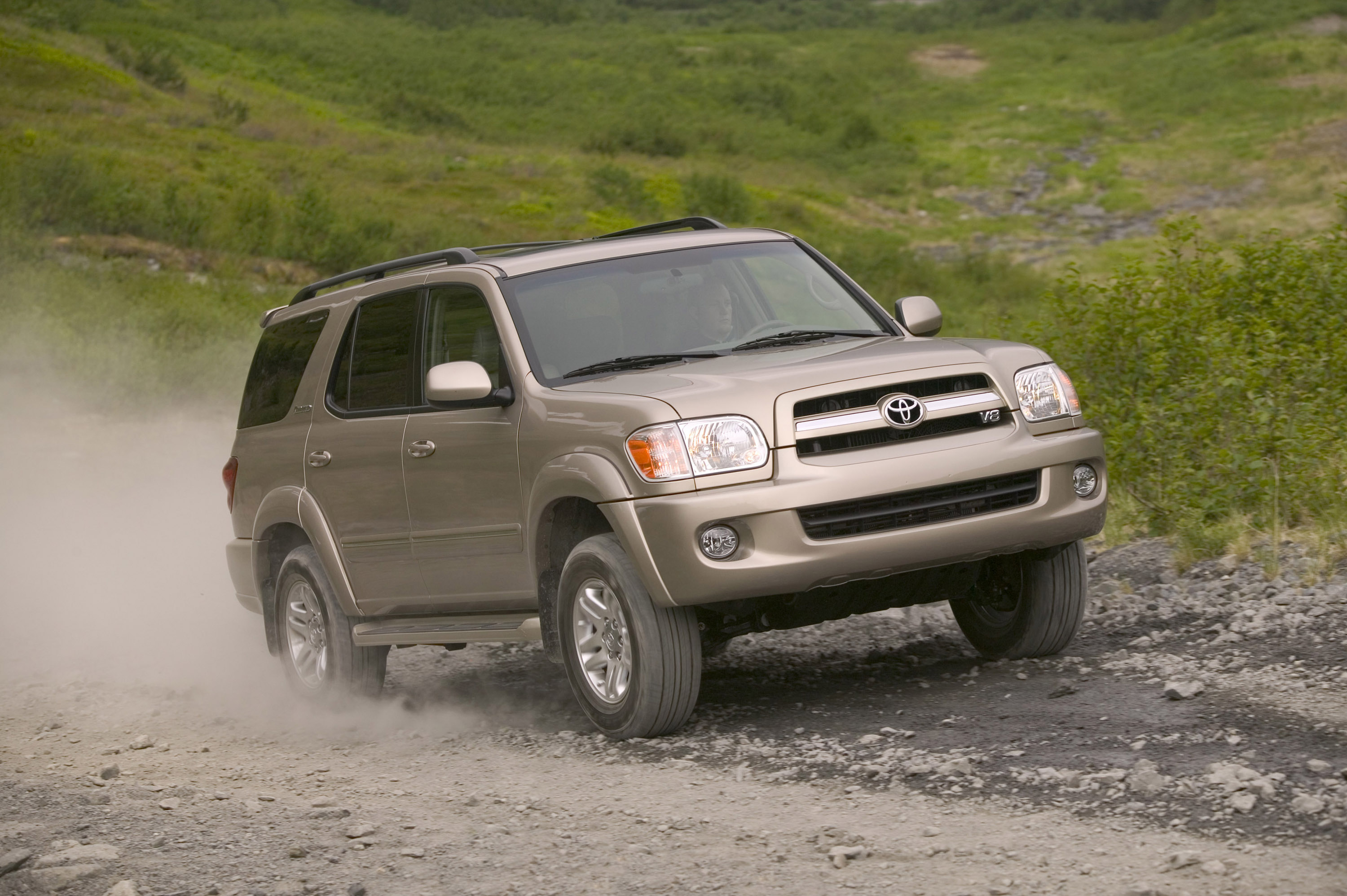 The toyota sequoia full size sport utility vehicle suv continues into 2006 with minor enhancements after gaining a more powerful engine freshened styling