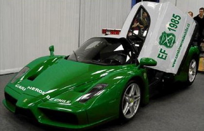 Green Ferrari Enzo Only For Police Top Speed