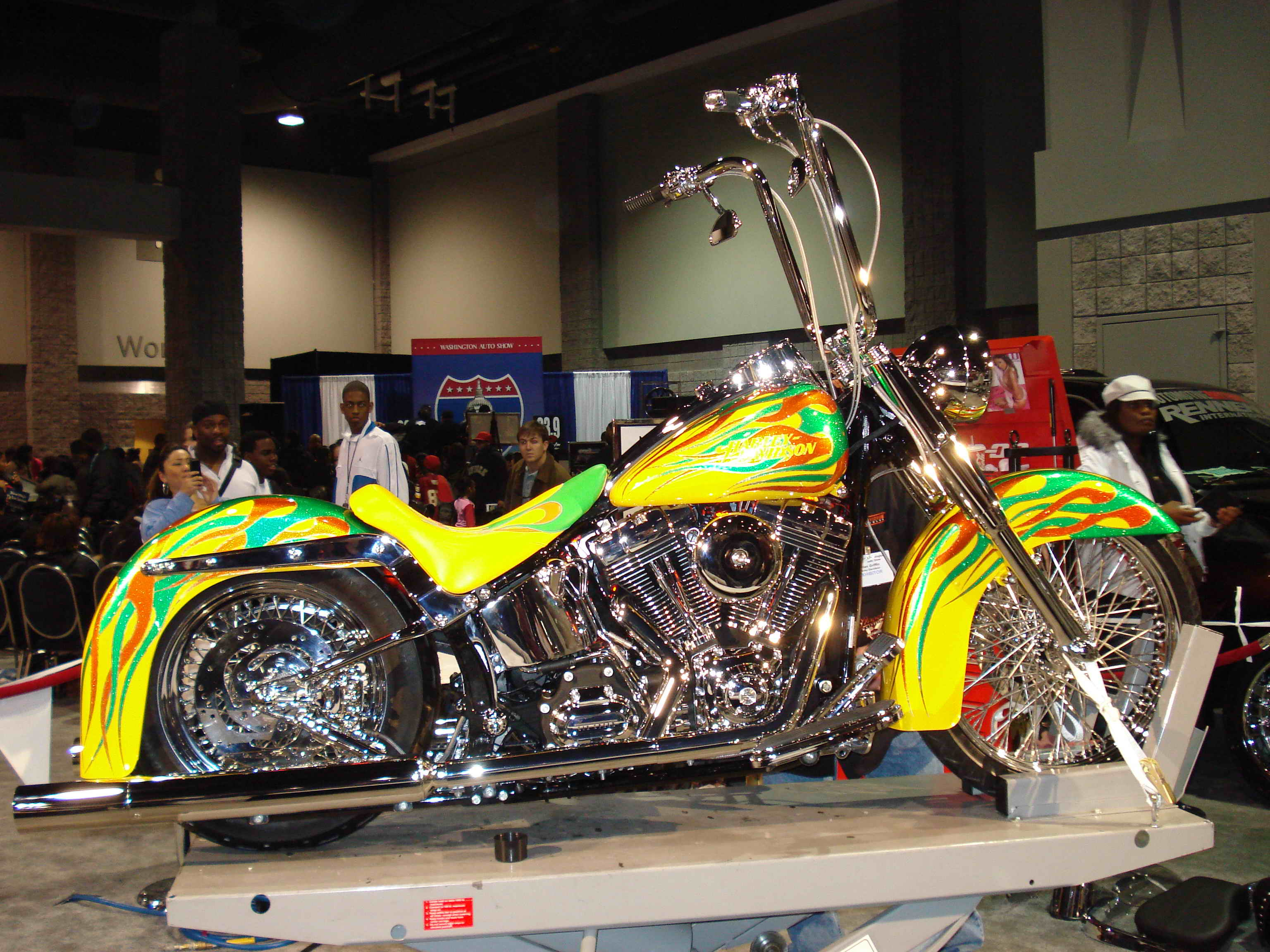 Heritage Softail Classic Gets Customized At Washington D C Auto Show