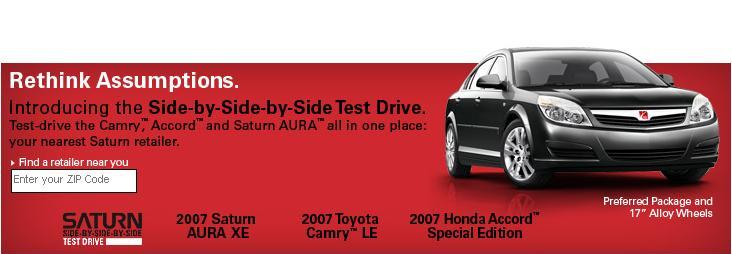 Saturn Offers Aura Side-By-Side-By-Side Test Drive Picture