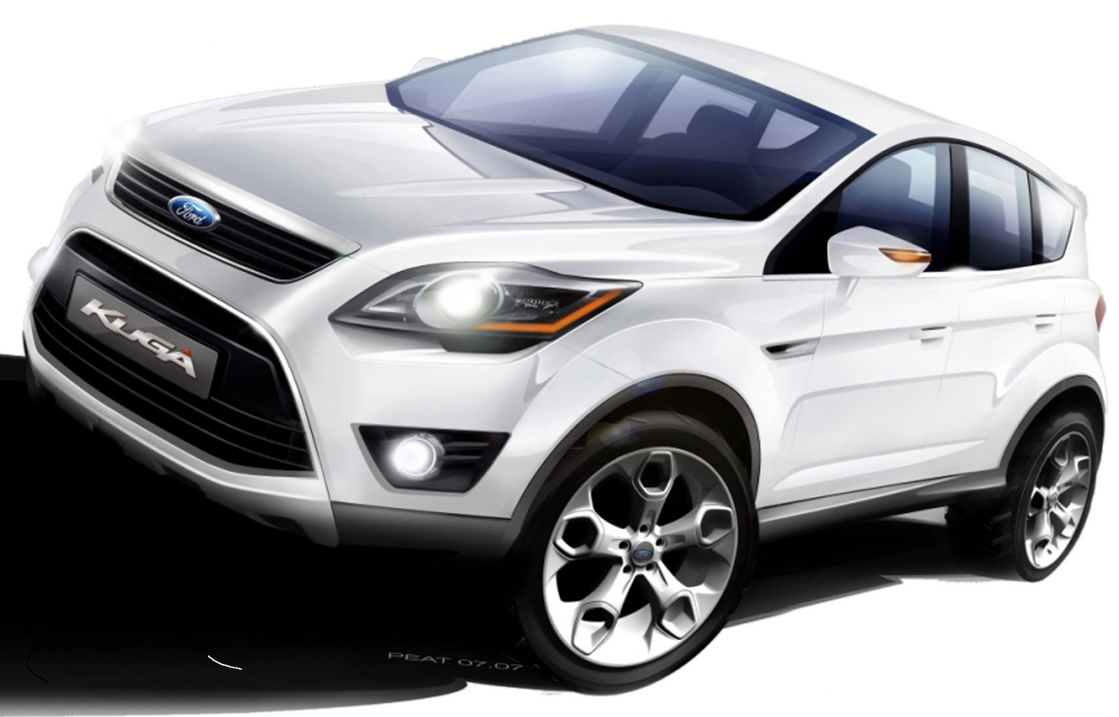 2008 ford kuga crossover to be unveiled in frankfurt top speed. Black Bedroom Furniture Sets. Home Design Ideas