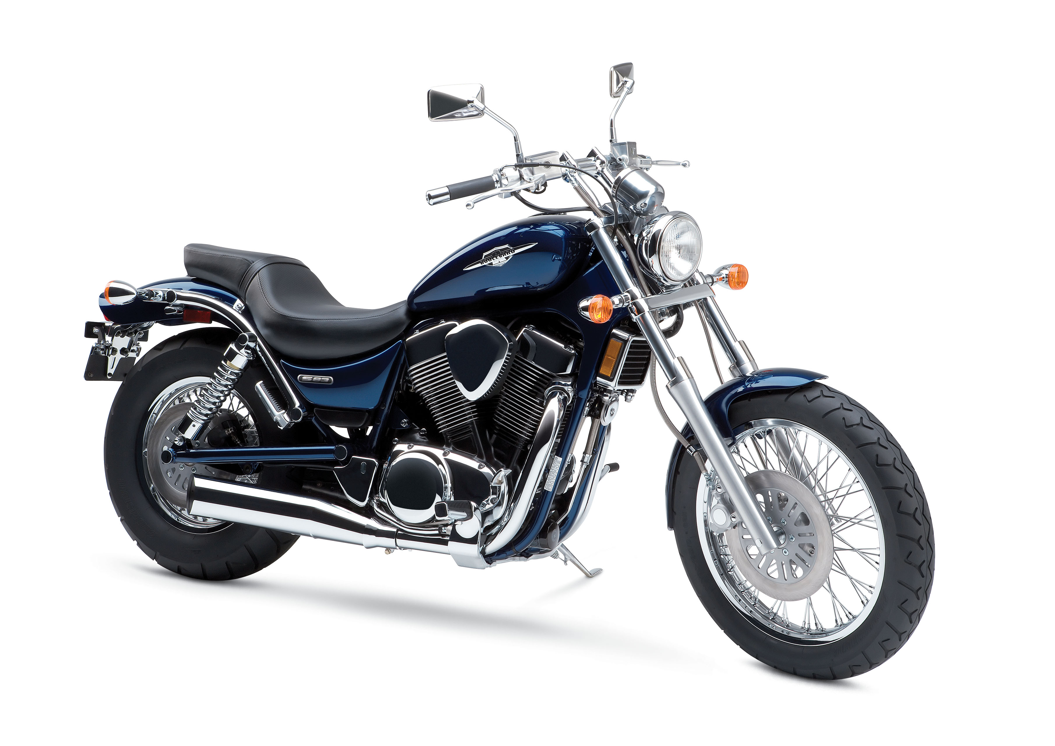 Suzuki Boulevard S on Harley Davidson Twin Cooled Engine