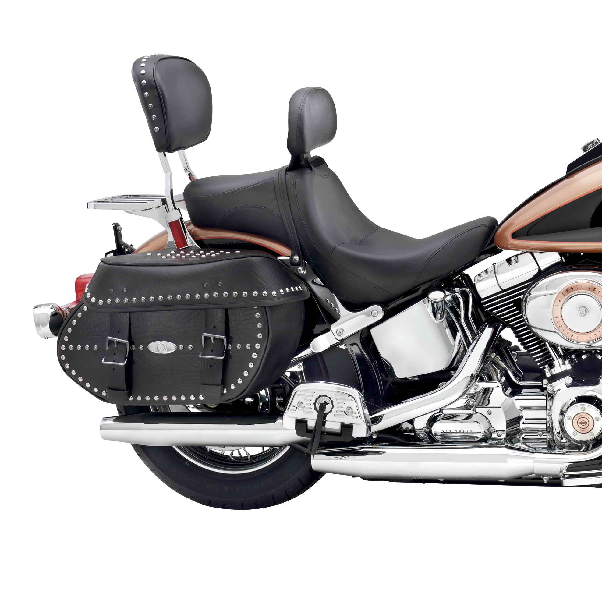 new signature series seat with rider backrest from harley davidson top speed. Black Bedroom Furniture Sets. Home Design Ideas