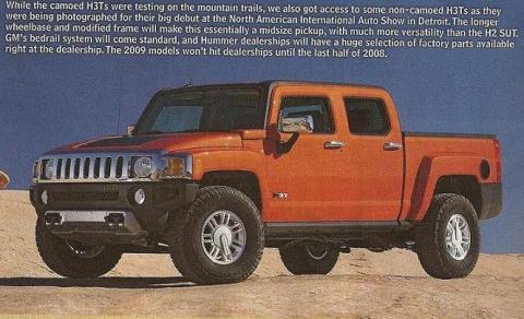 HUMMER H3T revealed before Chicago debut