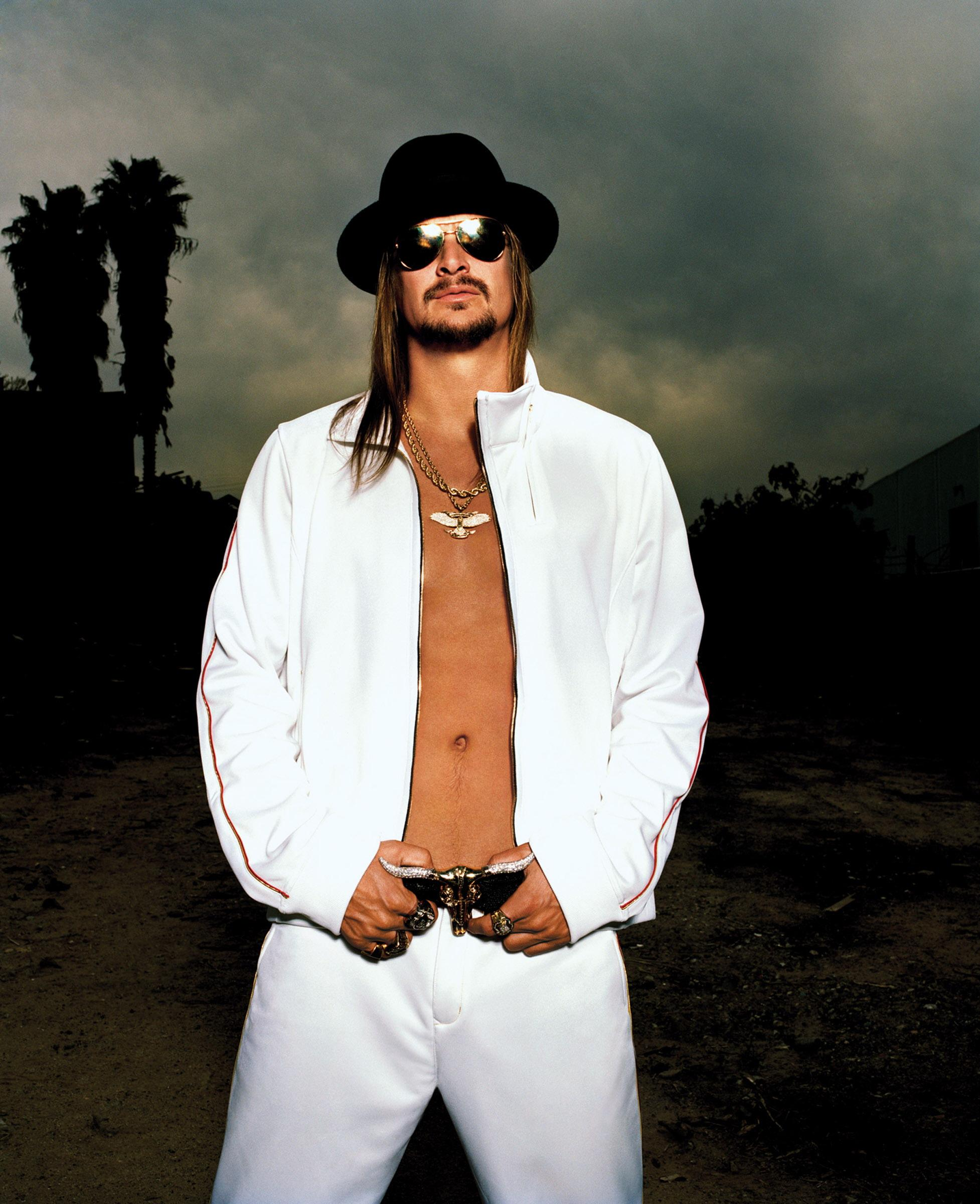 Kid Rock Flexes Detroit Muscle At GM Style