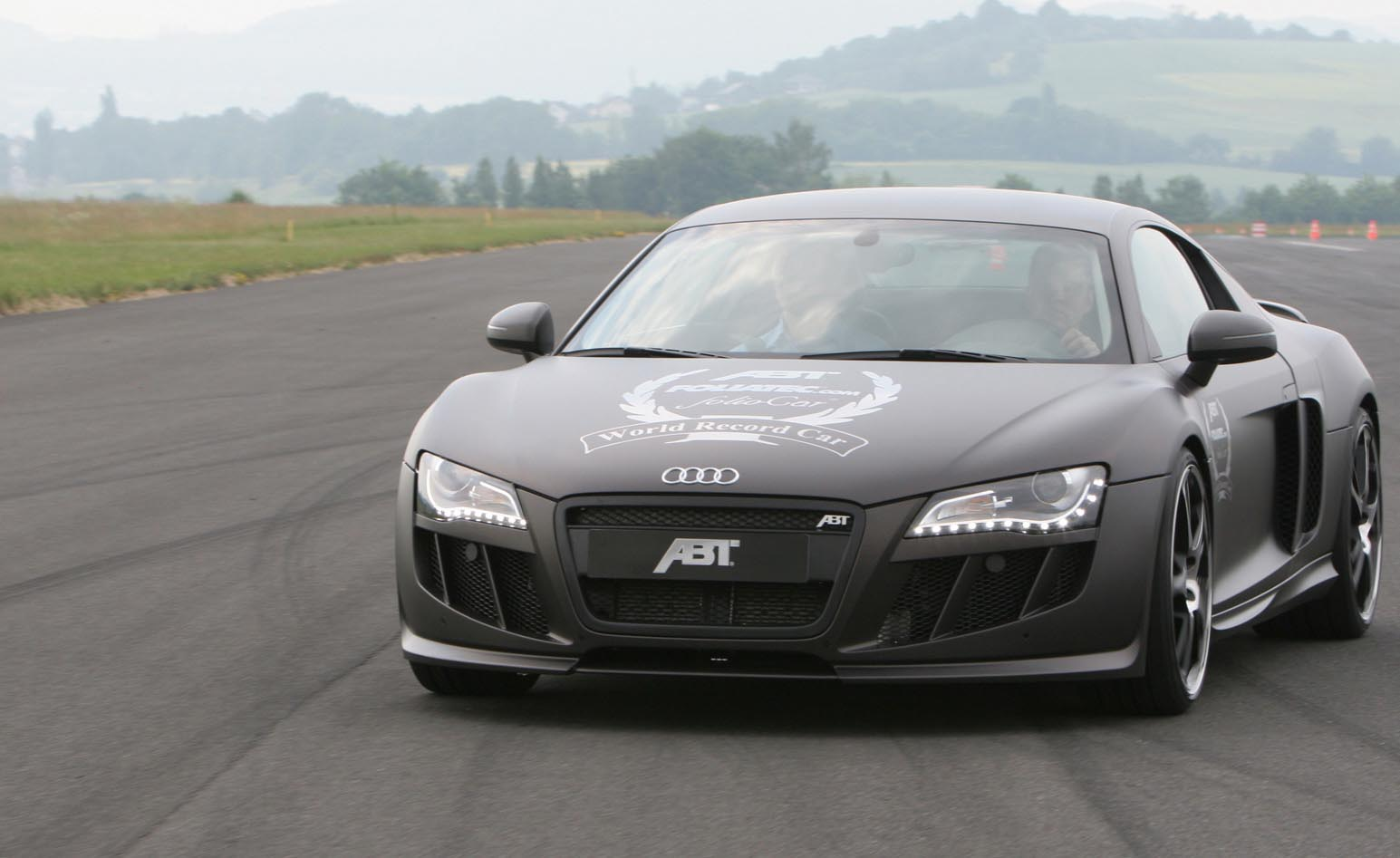 Abt Audi R8 Gets Covered In Record Time Top Speed