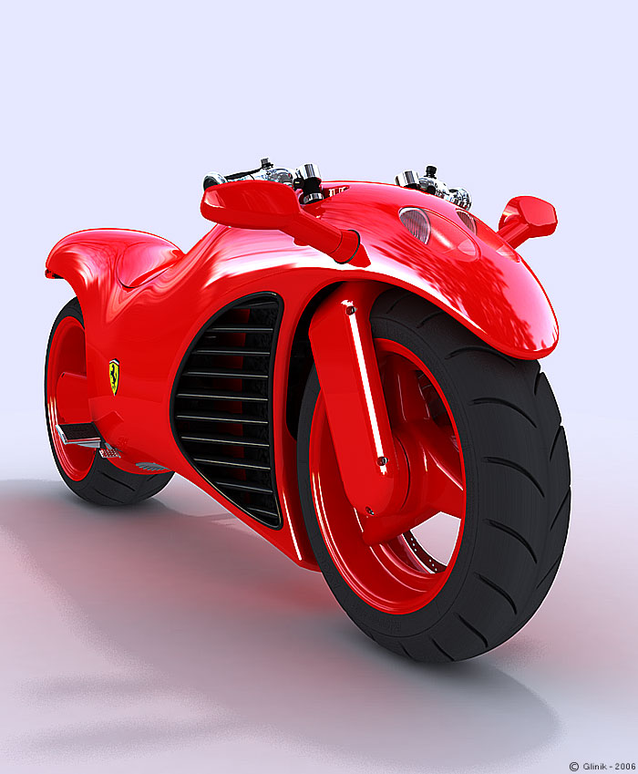 Ferrari V4 Motorcycle Concept News - Top Speed
