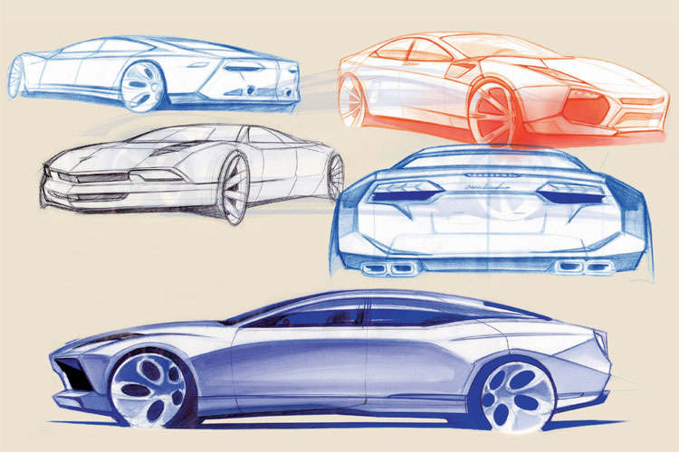 Lamborghini Four Door Concept Sketches Top Speed