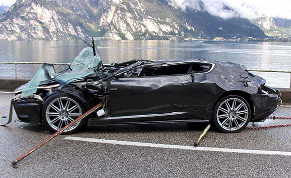 $350,000 for 007's wrecked Aston Martin