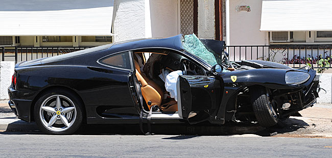 Ferrari 360 Modena Crashed! Driver Survives! | Top Speed