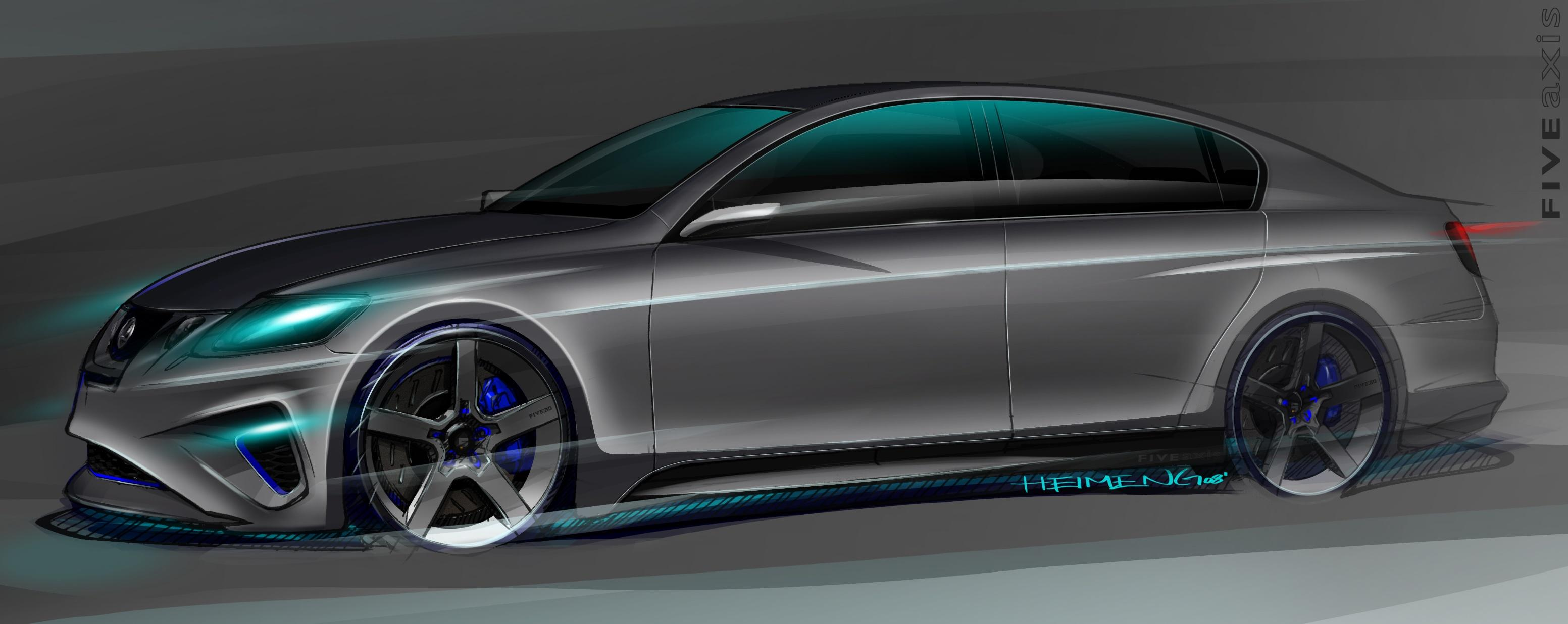 lexus gs 460 by five axis coming to sema