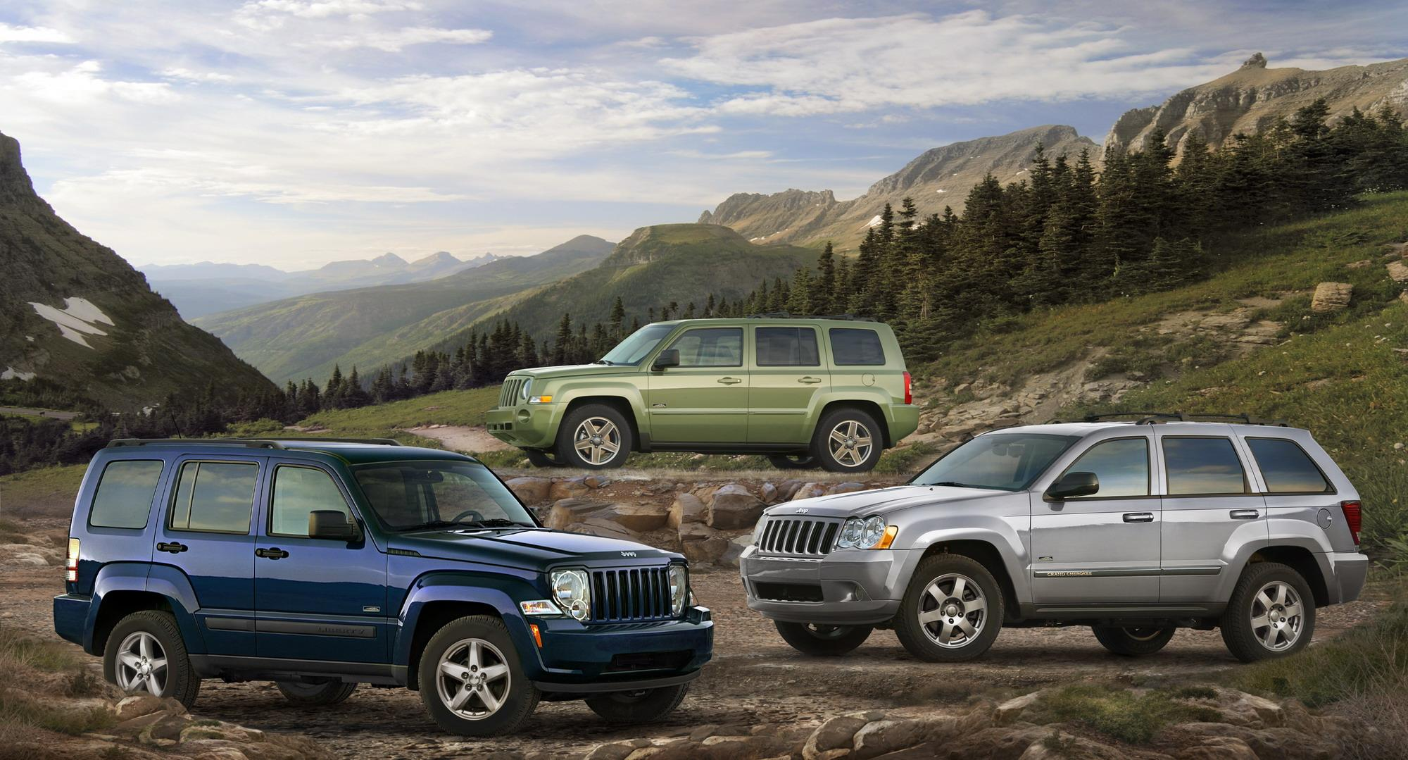 2009 Jeep Patriot Liberty And Grand Cherokee Rocky