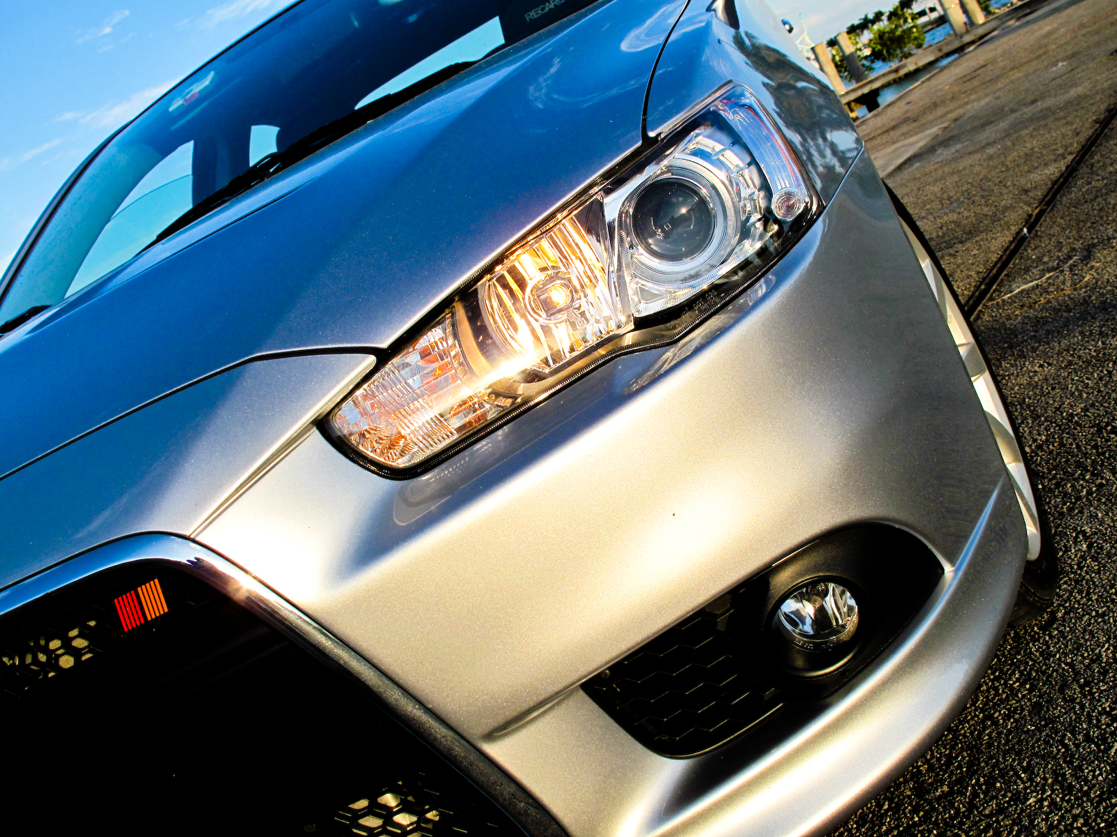2009 Mitsubishi Lancer Ralliart Top Speed Head Lamp Colt 120 Ss