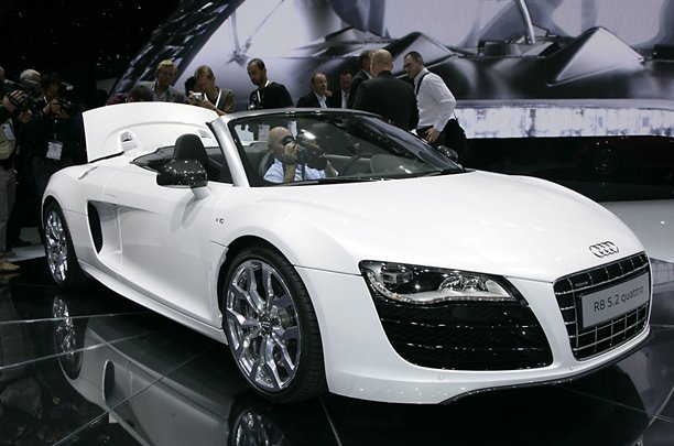 Audi R Spider Finds Its Way Into Audis New London Dealership - Audi new london