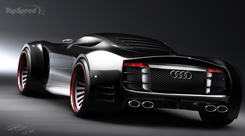 2011 Audi R10 Concept Dark Cars Wallpapers