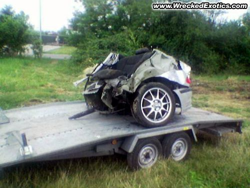 Mangled Super Cars One Busted Ferrari A Bent Up Porsche Gt3 And Tiger Wood S Escalade Top Speed