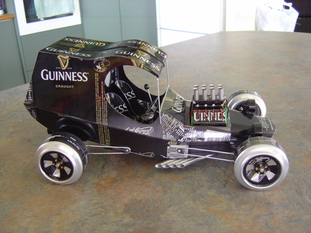 Sandy Sanderson builds model cars from tin cans wallpaper image