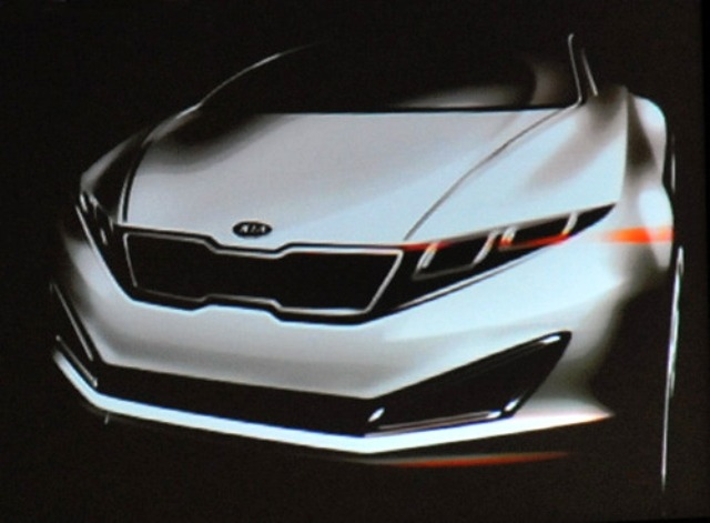 Teaser Sketch Of Kia S New Luxury Car Revealed In South Korea Top