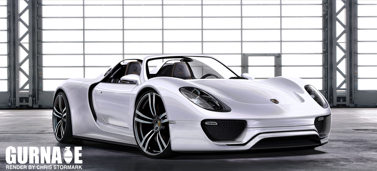 porsche 918 spyder concept rendering news top speed. Black Bedroom Furniture Sets. Home Design Ideas