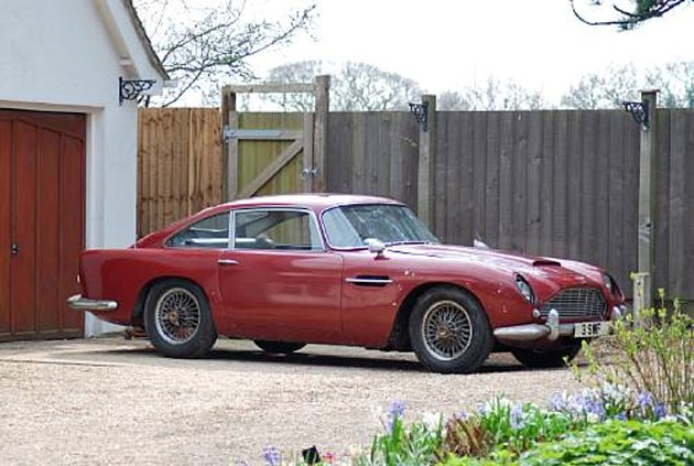 james bond's 1964 aston martin db4 from goldfinger being put up for