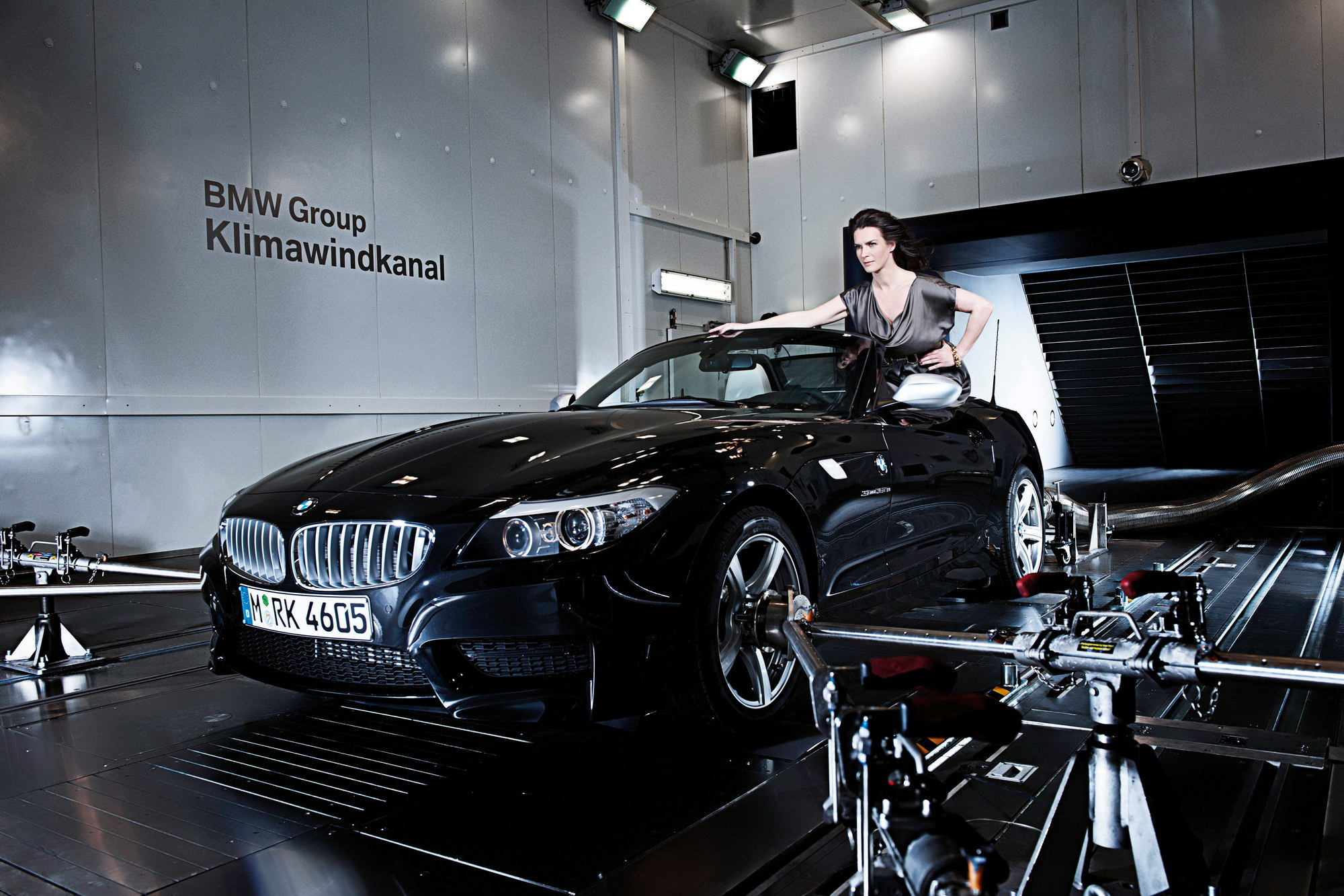 Katarina Witt And The Bmw Z4 At The New Energy And