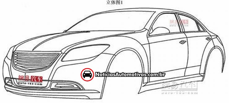 are these patent drawings of the chrysler 200c  gallery