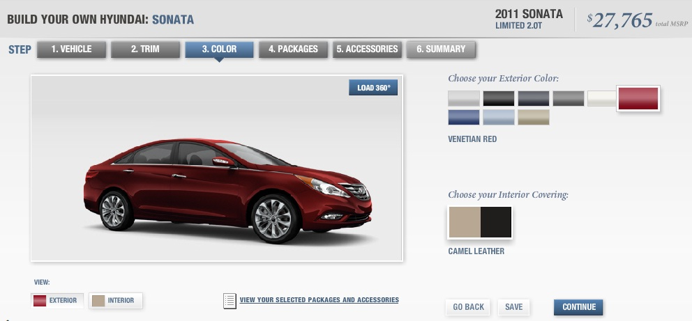 Good 2011 Hyundai Sonata 2.0T Configurator Goes Online | Top Speed. »