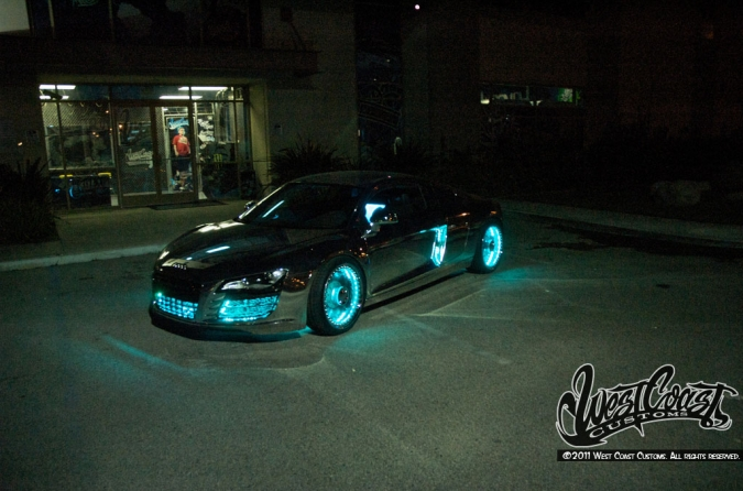 West Coast Customs Tron Car >> 2011 Audi R8 Tron By West Coast Customs And Monster Cable Top Speed