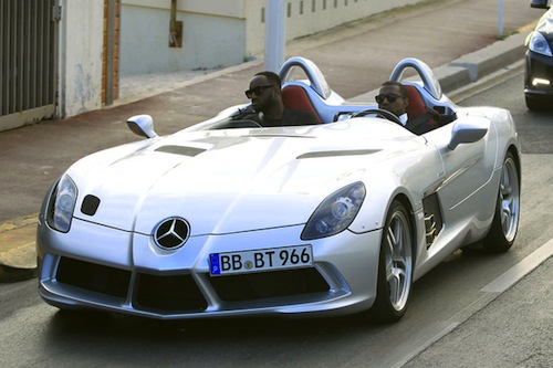 kanye west drives mercedes slr stirling moss at cannes | top speed