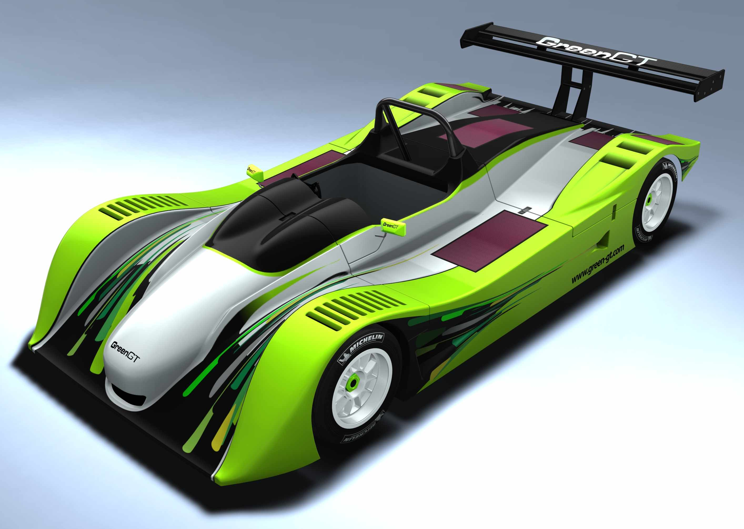 green gt electric race car concept top speed. Black Bedroom Furniture Sets. Home Design Ideas